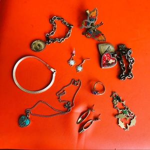 Jewelry - 9 piece lot silver 925 and costume jewelry
